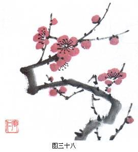 [转载]国画梅花,麻雀,公鸡,美人蕉,竹子技法