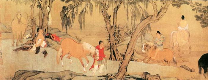 赵孟頫 浴马图